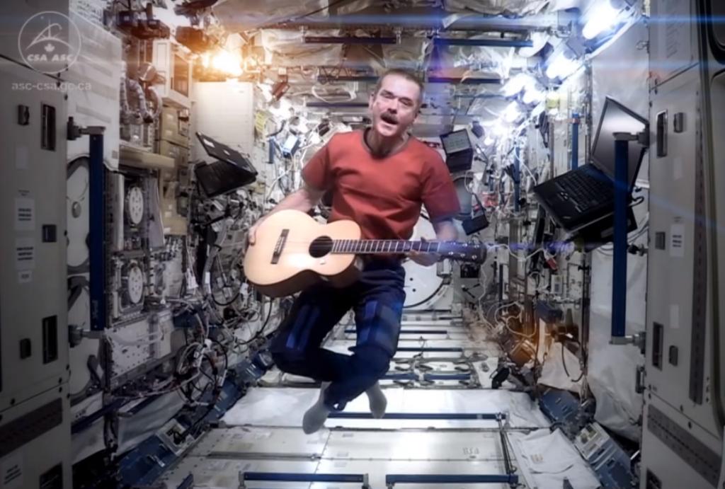 Space Oddity nello spazio