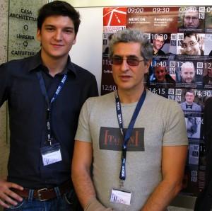 Con Andrea Vaccari a Frontiers of Interaction 2009.