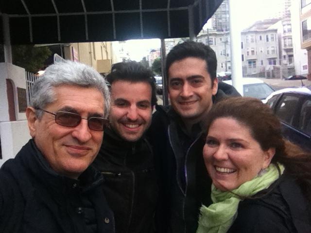 A San Francisco con  Silvia GIordani e Giacomo Ghiraldo e Diego Echecopar di SV Links