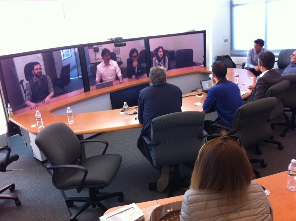 Telepresence con i partecipanti all'IdF Silicon Valley Tour 2014 nella sede Cisco di San Josè