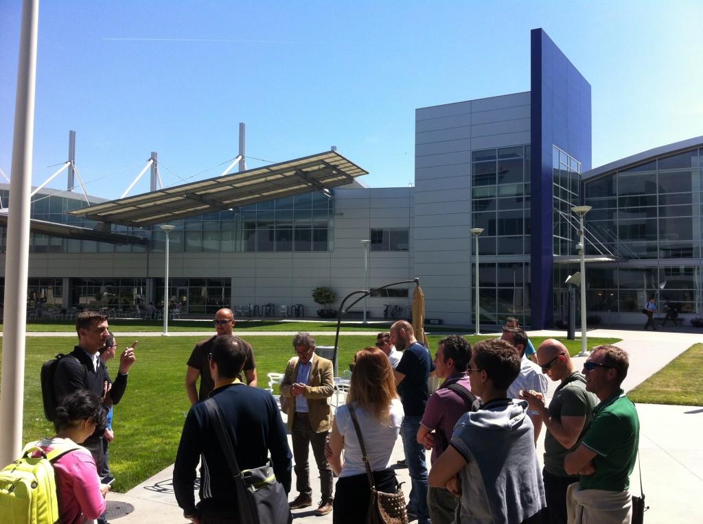 Con Tomaso Pozzi nel campus di Yahoo!