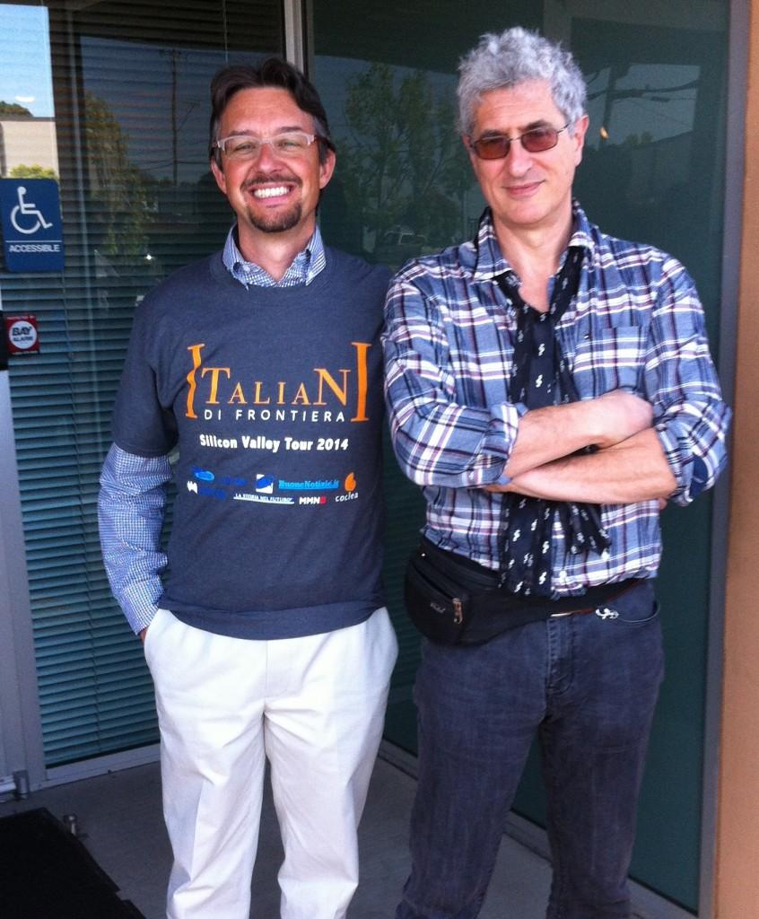 Con Fabrizio Capobianco e la nuova maglietta del Tour