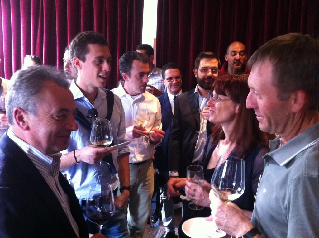 Giacomo Marini incontra gli imprenditori dell'IdF SV Tour alla serata SVIEC,