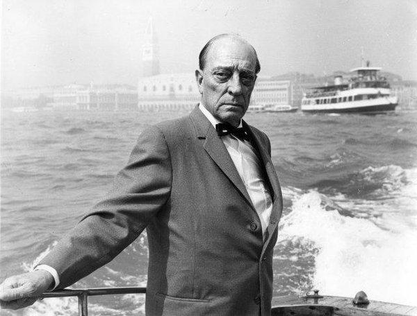 Buster Keaton a Venezia per l'omaggio alla Mostra del Cinema 1965, pochi mesi prima di morire