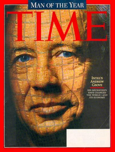 Andy Grove sulla copertina di Time, Uomo dell'Anno 1997