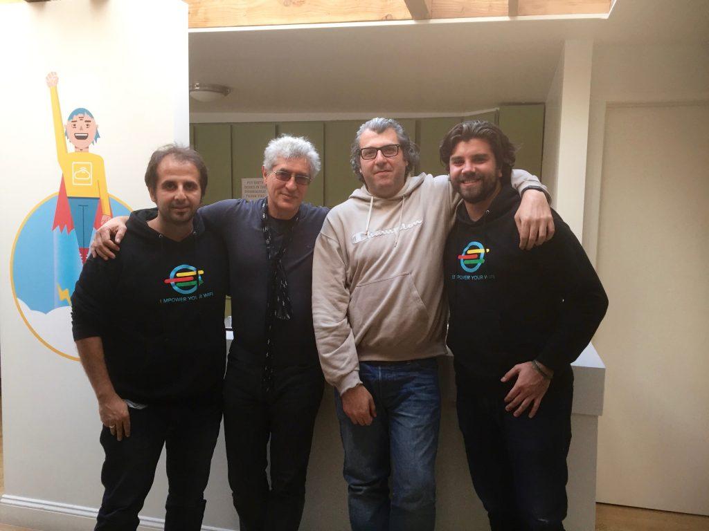 Nella sede di Cloud4Wi a San Francisco con il fondatore Andrea Calcagno,...