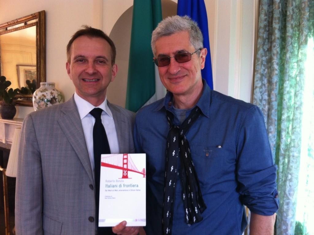 Con Mauro Battocchi, console generale d'Italia a San Francisco