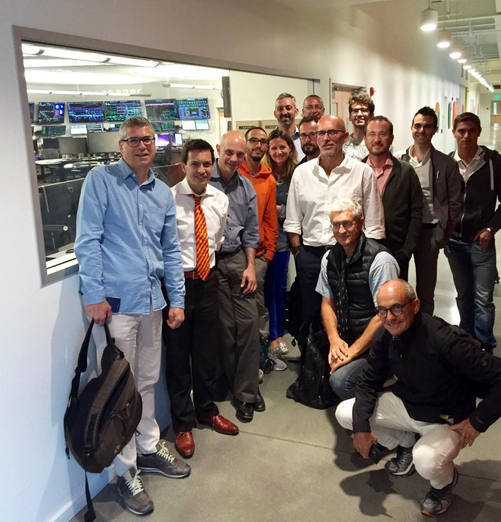 Italiani di Frontiera Silicon Valley our a SLAC, acceleratore di Stanford, con Enzo Carrone e Alessandro Ratti. Luca Vignaga è il primo a sinistra.
